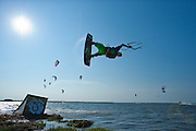 Outerbanks, NC - Brandon Scheid kiteboarding at the Triple-S 2011