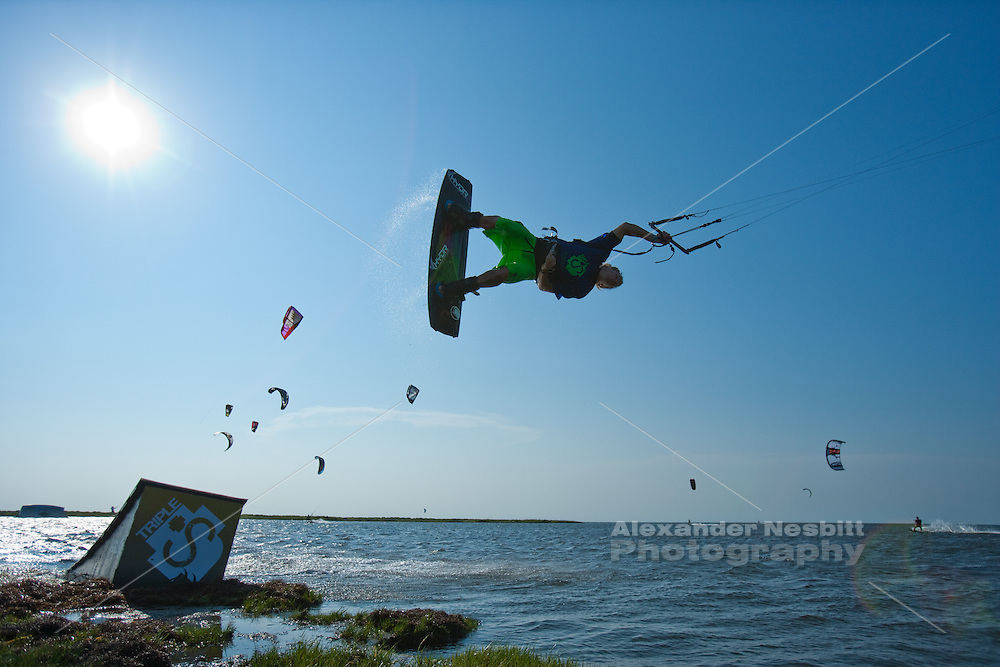 Outerbanks, NC - Brandon Scheid kiteboarding at the Triple-S 2011