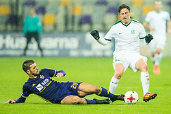 Mitja Viler of NK Maribor and Andres Vombergar of NK Olimpija Ljubljana during football match between NK Maribor and NK Olimpija Ljubljana in 2nd leg match in Quaterfinal of Slovenian cup 2017/2018, on November 29, 2017 in Ljudski vrt, Maribor, Slovenia. Photo by Ziga Zupan / Sportida