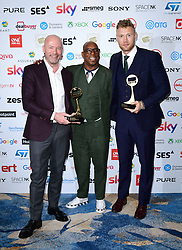 Alan Shearer, Ian Wirght, Andrew Flintoff attending the TRIC Awards 2019 50th Birthday Celebration held at the Grosvenor House Hotel, London.