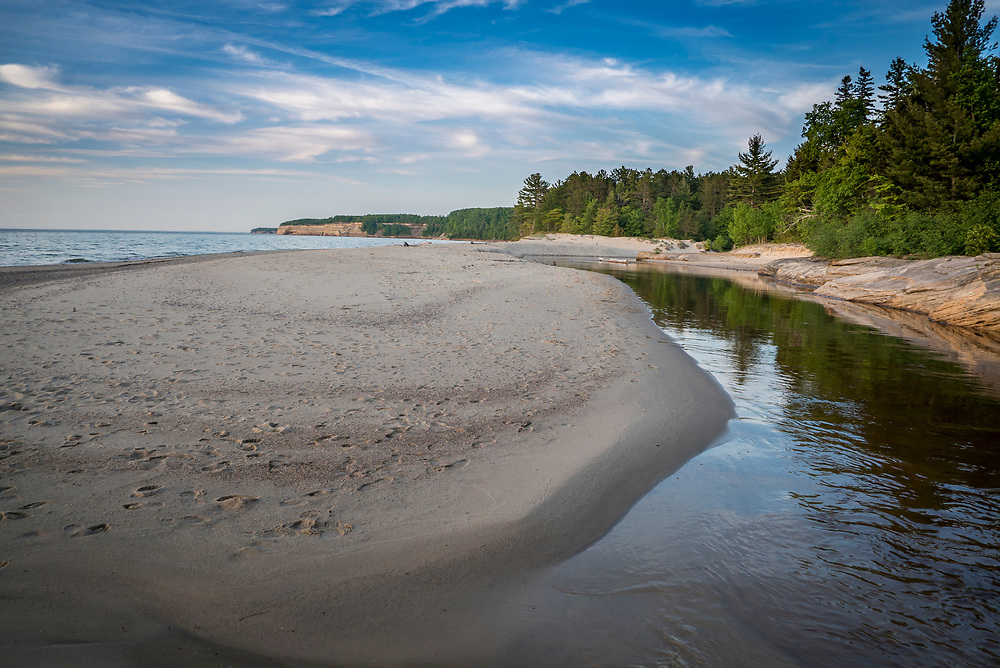 Mouth of the Miners River, Pictured Rocks National Lakeshore, Munising, Michigan.
