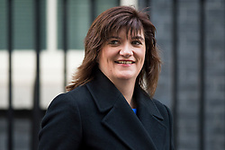 © Licensed to London News Pictures. 23/02/2016. London, UK. Secretary of State for Education, NICKY MORGAN leaves number 10 Downing Street in Westminster, London after cabinet meeting. Photo credit: Ben Cawthra/LNP