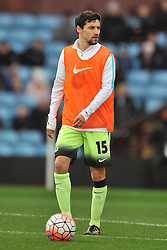 JESUS NAVAS MANCHESTER CITY, Aston Villa v Manchester City, The Emirates FA Cup 4th Round Villa Park Saturday 30th January 2016
