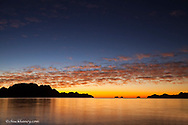 The sunrise over Isla Danzante in the Gulf of California from near Loreto Mexico