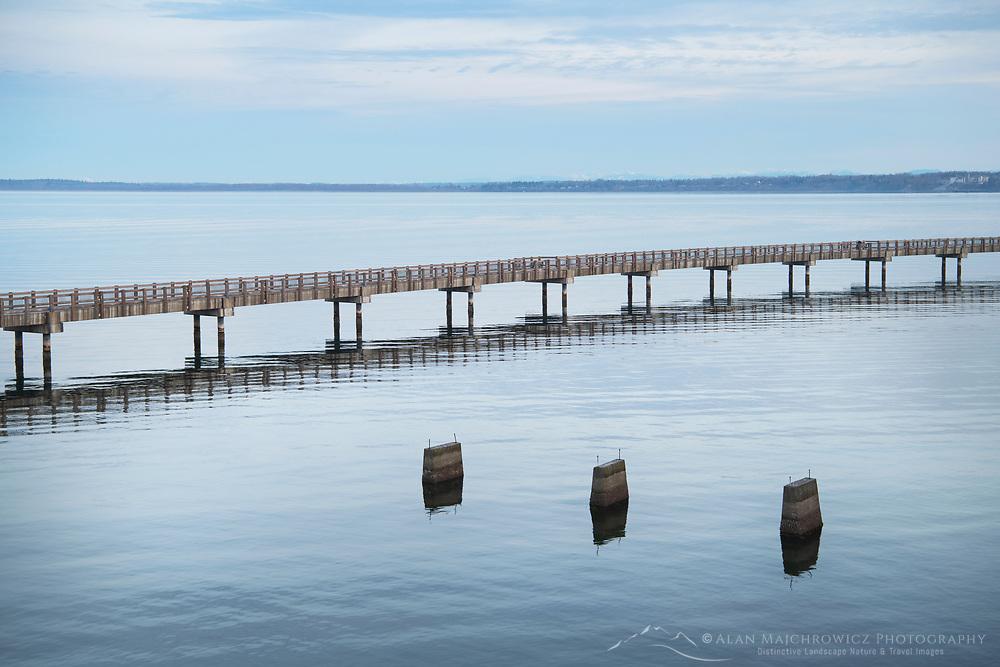 Boulevard Park Boardwalk , Taylor Dock, on Bellingham Bay, Bellingham Washington