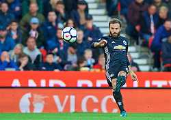 STOKE-ON-TRENT, ENGLAND - Saturday, September 9, 2017: Manchester United's Juan Mata during the FA Premier League match between Stoke City and Manchester United at the Bet365 Stadium. (Pic by David Rawcliffe/Propaganda)