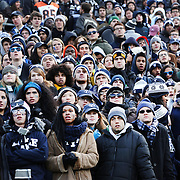 Yale fans watching their sides loss during the Harvard Vs Yale, College Football, Ivy League deciding game, Harvard Stadium, Boston, Massachusetts, USA. 22nd November 2014. Photo Tim Clayton