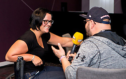 Great Britain's Sitting Volleyball captain Martine Wright MBE speaks to Ian Downs at Bristol Sport Big Breakfast- Mandatory by-line: Robbie Stephenson/JMP - 26/08/2016 - PR - Ashton Gate - Bristol, England - Bristol Sport Big Breakfast - Martine Wright MBE