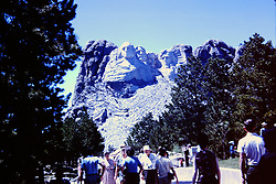 Vacation trip to South Dakota - Mt. Rushmore  circa 1963<br /> <br />  Photos taken by George Look.  Image started as a color slide.