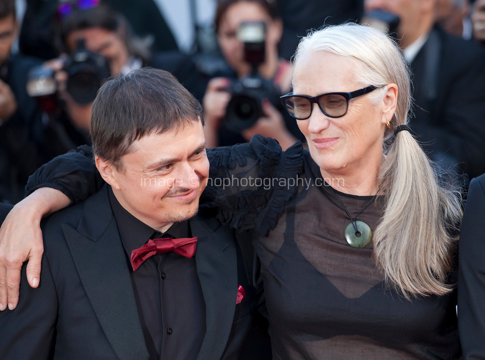 Directors Cristian Mungiu and Jane Campion at the 70th Anniversary Ceremony arrivals at the 70th Cannes Film Festival Tuesday 23rd May 2017, Cannes, France. Photo credit: Doreen Kennedy