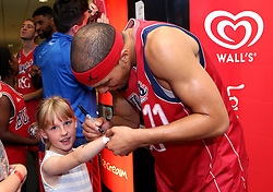 Greg Streete signs autographs - Photo mandatory by-line: Robbie Stephenson/JMP - 17/09/2016 - BASKETBALL - SGS Wise Arena - Bristol, England - Bristol Flyers v Worcester Wolves - Exhibition Game