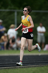 Hamilton, Ontario ---07/06/08--- Heather Slinn of Hillcrest in Ottawa competes in the 3000 meters at the 2008 OFSAA Track and Field meet in Hamilton, Ontario..GEOFF ROBINS