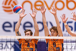 14-04-2019 NED: Achterhoek Orion - Draisma Dynamo, Doetinchem<br /> Orion win the fourth set and play the final round against Lycurgus. Dynamo won 2-3 / Joris Marcelis #4 of Orion, Twan Wiltenburg #9 of Orion
