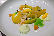 Berlin, Germany. Restaurant Tim Raue.<br /> THAI MANGO limette | safran