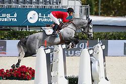 Sato Eiken (JPN) - Fine Fleur du Marais<br /> Furusiyya FEI Nations Cup Jumping Final Round 1<br /> CSIO Barcelona 2013<br /> © Dirk Caremans