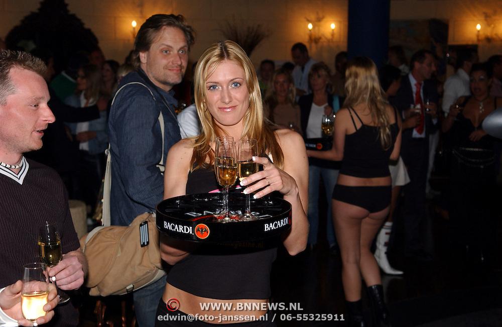 Presentatie van het blad Lust, Big Brother Tara van den Berg en Joey Medendorp en enkele modellen