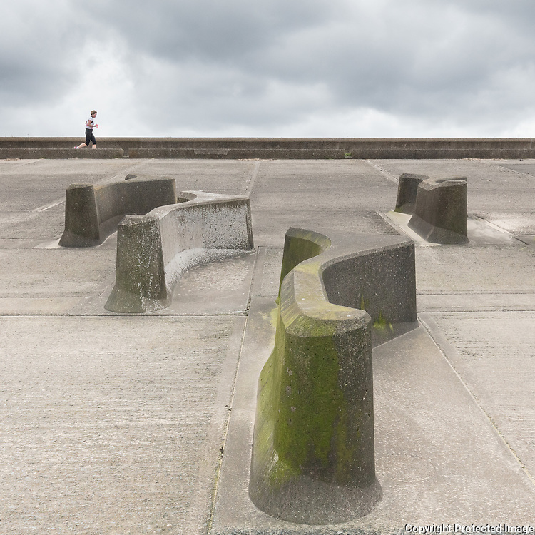 Concrete runner, Wallasey Embankment, Merseyside.