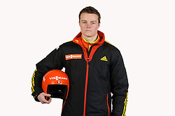 03.01.2014, Kunsteisbahn, Koenigssee, GER, BSD, Rennrodler Team Deutschland, Portrait, im Bild Florian Kuechler (RT Suhl ) // during Luge athletes of team Germany, Portrait Shooting at the Kunsteisbahn in Koenigssee, Germany on 2014/01/04. EXPA Pictures © 2014, PhotoCredit: EXPA/ Eibner-Pressefoto/ Stuetzle<br /> <br /> *****ATTENTION - OUT of GER*****