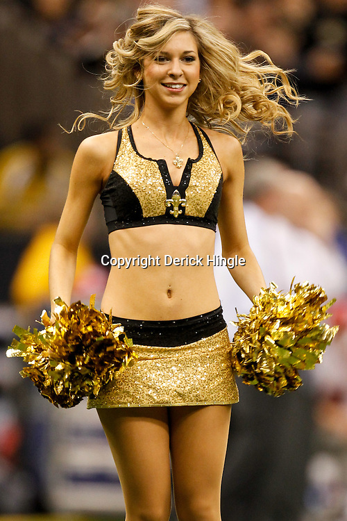 November 28, 2011; New Orleans, LA, USA; New Orleans Saints Saintsations cheerleaders perform at the end of the third quarter of a game against the New York Giants at the Mercedes-Benz Superdome. The Saints defeated the Giants 49-24. Mandatory Credit: Derick E. Hingle-US PRESSWIRE