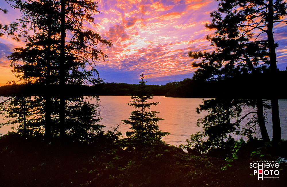 Early evening in Quetico Provincial Park.