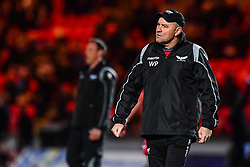 Scarlets' Head Coach Waye Pivac during the pre match warm up<br /> <br /> Photographer Craig Thomas/Replay Images<br /> <br /> European Rugby Champions Cup Round 5 - Scarlets v Toulon - Saturday 20th January 2018 - Parc Y Scarlets - Llanelli<br /> <br /> World Copyright © Replay Images . All rights reserved. info@replayimages.co.uk - http://replayimages.co.uk