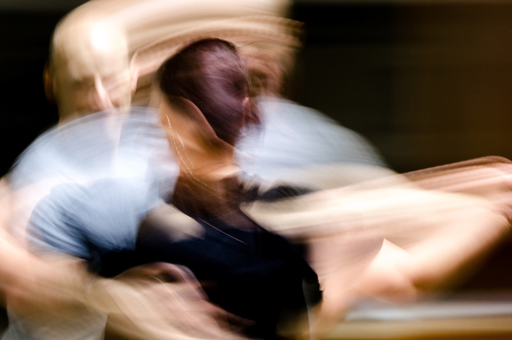 Blurred image of people dancing