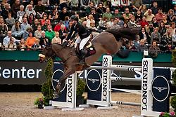 HELLSTRÖM Jacob (SWE), Jus d'Orange van'T Bisthof<br /> Leipzig - Partner Pferd 2019<br /> Longines FEI Jumping World Cup<br /> Qualifikation CSI-W<br /> 18. Januar 2019<br /> © www.sportfotos-lafrentz.de/Stefan Lafrentz