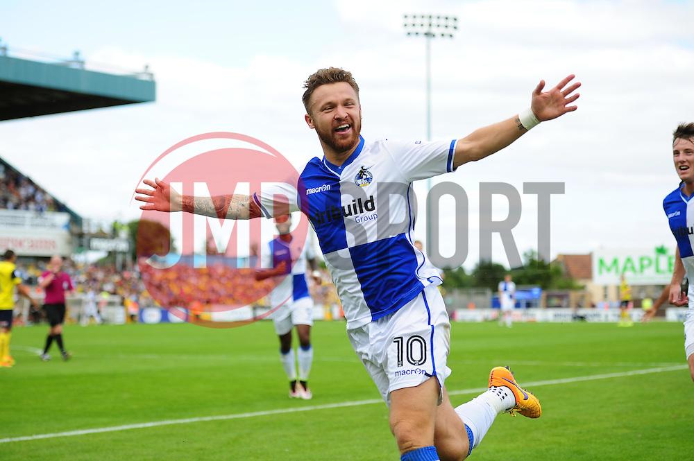 Matt Taylor of Bristol Rovers celebrates his goal - Mandatory by-line: Dougie Allward/JMP - 14/08/2016 - FOOTBALL - Memorial Stadium - Bristol, England - Bristol Rovers v Oxford United - Sky Bet League One