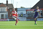 Fleetwood Town midfielder Kyle Dempsey finds the pass during the EFL Sky Bet League 1 match between Fleetwood Town and Charlton Athletic at the Highbury Stadium, Fleetwood, England on 10 September 2016. Photo by John Marfleet.