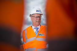 © Licensed to London News Pictures . 05/08/2016 . Cheshire , UK . CHRIS GRAYLING visits the A6 relief road construction site , near to Manchester Airport , on his first visit to the North West since he was appointed Transport Secretary . Photo credit : Joel Goodman/LNP
