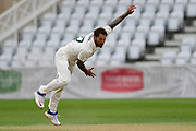 Peter Trego of Nottinghamshire bowling from the Pavillion end during the Bob Willis Trophy match between Nottinghamshire County Cricket Club and Derbyshire County Cricket Club at Trent Bridge, Nottingham, United Kingdon on 4 August 2020.