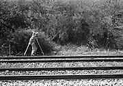 Mätttekniker på järnvägen