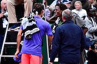 Roger FEDERER / Gael MONFILS - 31.05.2015 - Jour 8 - Roland Garros 2015 <br />Photo : Dave Winter / Icon Sport