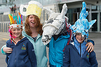 06/08/2017  The Parry  Family Clarecastle   at the Mad Hatters competition  at the Galway Races on the last day of the Summer festival.  Andrew Downes, xposure