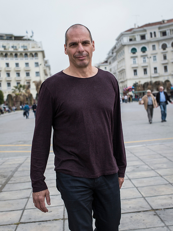 Yanis Varoufakis in Thessaloniki city, Northern Greece on the 29th of April 2017.