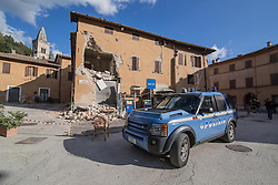 Earthquake in Valnerina. Pictured: Visso, province of Macerata NO WEB *** *** *** NO DAILY