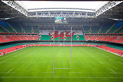 CARDIFF, WALES - Wednesday, April 30, 2014: The Millennium Stadium at the launch of the Football Association of Wales bid for hosting a UEFA Euro 2020 fixture at the 74,154 capacity Millennium Stadium. (Pic by David Rawcliffe/Propaganda)
