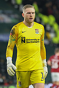 Northampton Town goalkeeper David Cornell during the The FA Cup match between Derby County and Northampton Town at the Pride Park, Derby, England on 4 February 2020.