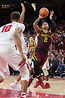 FAYETTEVILLE, AR - DECEMBER 9:  Nate Mason #2 of the Minnesota Golden Gophers drives to the basket during a game against the Arkansas Razorbacks at Bud Walton Arena on December 9, 2017 in Fayetteville, Arkansas.  The Razorbacks defeated the Golden Gophers 95-79.  (Photo by Wesley Hitt/Getty Images) *** Local Caption *** Nate Mason