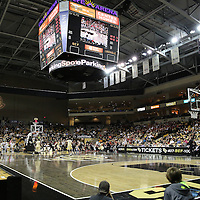 A general overview during an NCAA basketball game between the 14th ranked Louisville Cardinals and the UCF Knights at the CFE Arena on Tuesday, December 31, 2013 in Orlando, Florida. (AP Photo/Alex Menendez)