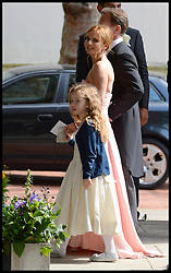 Geri Halliwell arriving at the wedding of Poppy Delevingne to James Cook at St.Paul's Church in Knightsbridge, London,  Friday, 16th May 2014. Picture by Andrew Parsons / i-Images