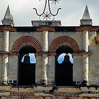 Americas, Central America, Guatemala. The 16th century San Francisco Assis mission in Panajachel, Guatemala.