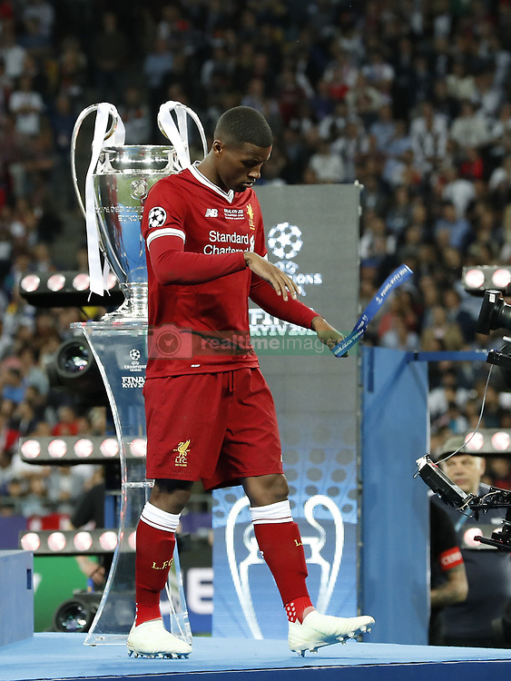 Georginio Wijnaldum of Liverpool FC during the UEFA Champions League final between Real Madrid and Liverpool on May 26, 2018 at NSC Olimpiyskiy Stadium in Kyiv, Ukraine