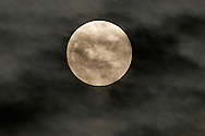 Middletown, New York - The Super Moon shines through clouds on May 5, 2012.