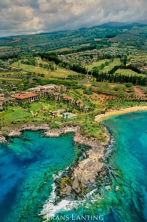 Coastal development (aerial), Maui, Hawaii