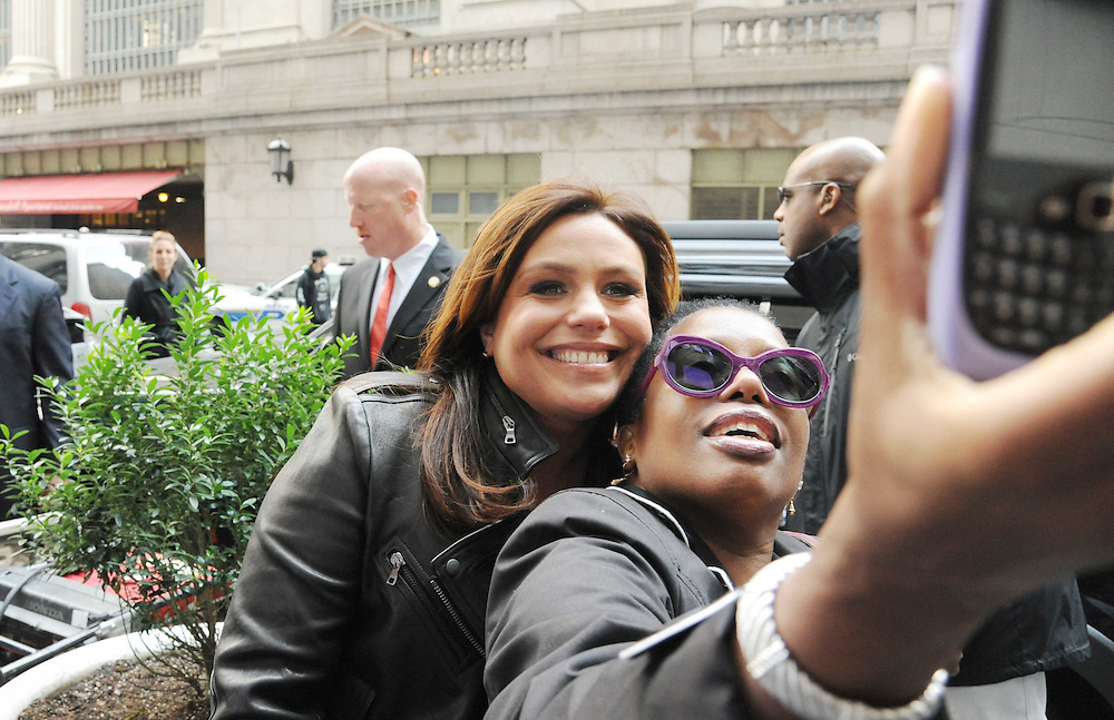 "Rachael Ray is seen with the $2 Buck Food Truck in a photo from the production of ""The Rachael Ray Show"" in New York City on November 3, 2011. David E. Steele/Disney/ABC"