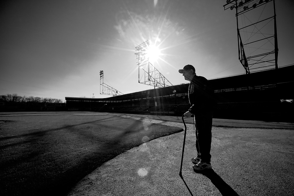 Virgil Trucks, the oldest living Detroit Tiger (in 2011), pictured at Rickwood Field, the oldest remaining professional ballpark.<br /> Photo by Randal Crow, motion and stills