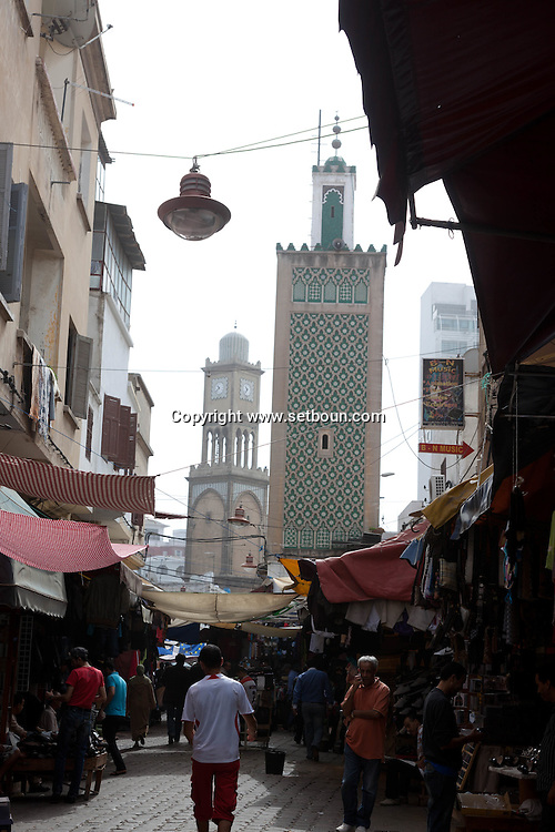 Morocco, Casablanca,  market,in  the old medina  / le marche dans la vieille ville