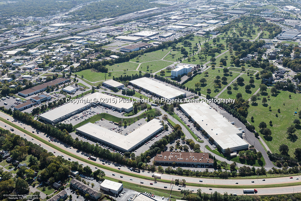 Aerial Photo Of 440 Business Park Intersected By Melrose Avenue Just Off Of I-440.
