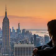 A view of Manhattan from the Top of Rocks' observatory
